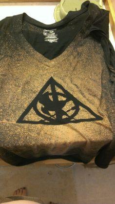 Deathly hallows/mockingjay bleach shirt