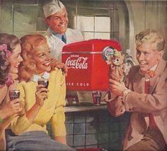Coca Cola 1940s  #coke #ad