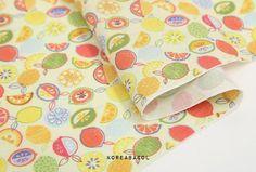 Textile Prints, Textiles, Scandinavian Fabric, Orange Fruit, Fruit Pattern, How To Make Pillows, Fabric Patterns, Coupon Codes, Handmade Gifts