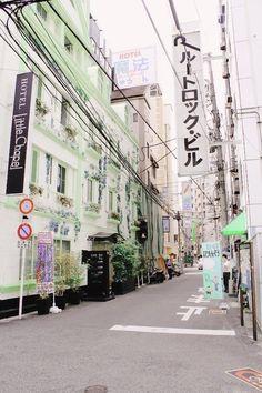 Japan, city, and street image scenery trong 2019 япония, улица và эстетика. Aesthetic Japan, Japanese Aesthetic, Travel Aesthetic, Aesthetic Green, The Tatami Galaxy, Street Image, Japan Street, Beautiful Streets, City Streets