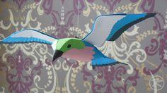 paper lilac-breasted roller bird by Patrick Krämer Die Gabelracke