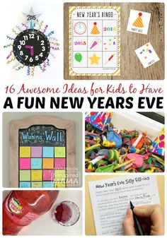 16 Awesome Ideas for New Years Eve for Kids - Perfect for a Family New Year's Eve Party -  at B-Inspired Mama #Sponsored