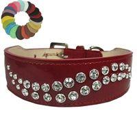Big Swirl Custom Dog Collar - Leather
