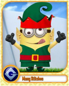 christmas minion | To create your own click on the word minion .