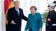 """""""Cómo en 2 Universos #Políticos diferentes"""" el 1er encuentro de #DonaldTrump con #AngelaMerkel en #LaCasaBlanca #Washington DC #USA"""