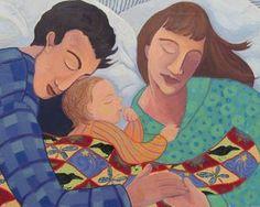 Family Bed | giclée print by Mari Dieumegard #parenting #art