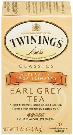 Twinings Earl Grey Decaf Tea, Boxes (Pack of They are fine black tea expertly blended with the citrus fruit flavor of bergamot, to deliver an uplifting tea with a unique floral aroma and refreshing taste. Twinings Tea, Tea Recipes, Gourmet Recipes, Decaf Tea, Tea Etiquette, Black Tea Bags, Homemade Tea, Earl Grey Tea