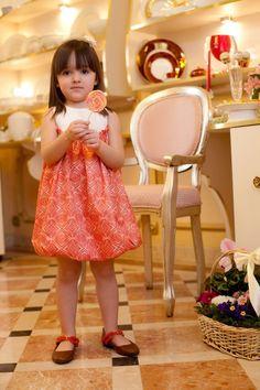 Rochita volumetrica Tangerina - Hey Princess  Rochita volumetrica din tafta in carouri in nuate tangerine, cu bust plisat din tafta ivory, captuseala din bumbac natural.