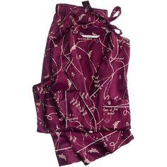 The Afterhours Satin Pajama ❤ liked on Polyvore featuring intimates, sleepwear, pajamas, satin pjs, satin pajamas, victoria's secret, satin pyjamas and satin sleepwear