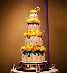 my wedding cake wedding cake fondant four noor pasadena roses striped ...