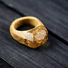 Wood Ring Wooden Resin Ring Wood Resin Ring Resin Jewelry