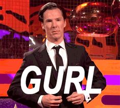 Benedict Cumberbatch (gif)  What a dork, my. Fantastic one, though.
