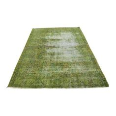 Turkish Handmade Dark Green Rug - 6′1″ × 8′2″ ($795) ❤ liked on Polyvore featuring home, rugs, contemporary handmade rugs, handmade wool rugs, wool area rugs, dark green area rugs, hand loomed wool rugs and wool rugs