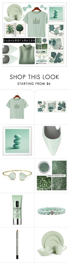 """green"" by dagmarsfashion ❤ liked on Polyvore featuring Pottery Barn, Alexander Wang, Margaret Elizabeth, Clinique, Lagos and Portmeirion"