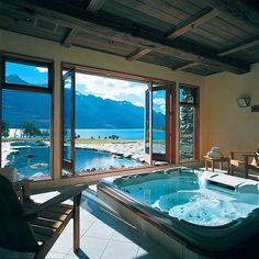 Blanket Bay Lodge Glenorchy, New Zealand ⠀ Photography by @blanket_bay