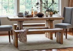 West Elm table that would be great to DIY with my reclaimed oak...