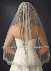 Beaded Silver or Gold Embroidery Elbow Length Wedding Veil,=Affordable Elegance Bridal - Rose Gold Accessories, Bridal Accessories, Wedding Veils, Wedding Dresses, Bling Wedding, Bridal Veils, Wedding Hair, Affordable Bridal, Wedding Styles