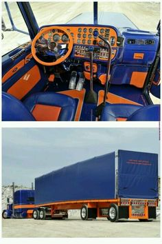 Beautiful custom truck and trailer. Check out the custom interior and attention to detail. MMM.....smokin' hot.:)