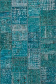 Hand-Knotted Oriental Pattern Wool Blue Area Rug ( 2x3 ) - contemporary - Area Rugs - Aster Lane