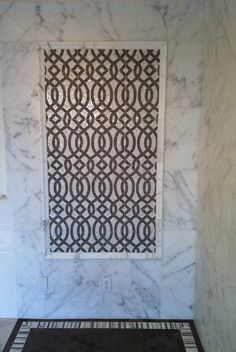 Mosaic Tiles: Mosaic Tile Stone - Imperial Trellis Mosaic Tiles for Bathroom Shower Accents with ...