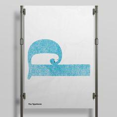 Poley Bear Letterpress Typography Design Illustration T-shirt