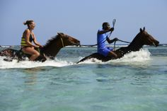 Horseback Ride and Swim #Falmouth #Jamaica