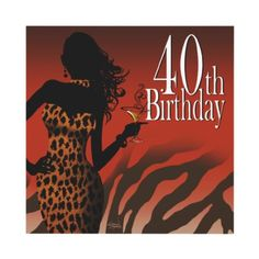 Bombshell Leopard 40th Birthday Party Dress Safari Custom Invitations by Special_Occasions