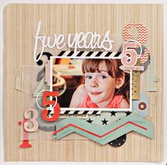 Layout by Jen Jockish using the Trendsetter collection by Fancy Pants Designs.