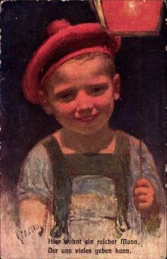 Artistes-AK-jour-ferie-Karl-vit-ici-un-homme-riche-enfant-1160873