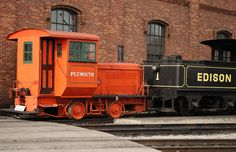is loving the contrast in this photo of a train at Greenfield Village/Henry Ford Museum in Dearborn! Dearborn Michigan, Henry Ford Museum, Abandoned Train, Bonde, Steam Locomotive, Travel Memories, Train Station, Detroit, Transportation