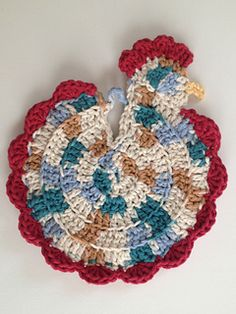 Cute Crochet Chicken pot holders by With Love by Jenni , free pattern