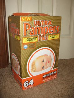 Ultra Pampers Plus 64's 1987-88