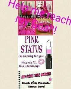 Ladies Im Almost There! Looking to Hit Pink by End of Month! Every Purchase Counts No Matter How Big Or Small. All Are Appreciated & Gets Me Closer To My Goal! Come on ladies! Check out my specials amongst this page and here: www.UrWorthIt856.us  I Appreciate All Of You! I Need That Pink!!!!
