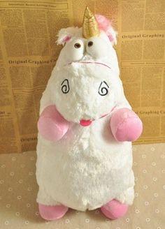 "25"" Despicable Me Agnes Fluffy Unicorn Soft Plush Doll Toy Pillow BIG SIZE"