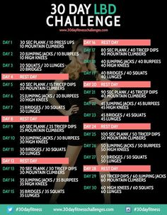 30 Day Challenge/ For after my hols!