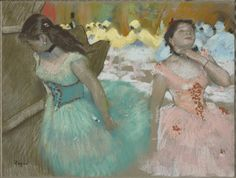 """Edgar Degas (French, 1834–1917), """"Entrance of the Masked Dancers,"""" circa 1879, pastel on paper, 19 5/16  by 25½ inches. Sterling and Francine Clark Art Institute, Williamstown, Mass."""