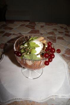 Macedonia con gelato