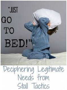 Bedtime Delays. Does your child come up with a million reason NOT to go to bed? Discover some tips and tricks to help your child go to bed with less of a fight. @projectsensory