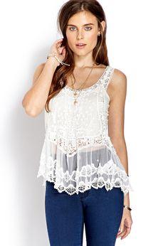Crocheted Dream Tank | FOREVER21 Dream catcher #Spring #Crochet #Boho