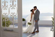 Bride and Groom. Dana Villas Santorini wedding, Greece.