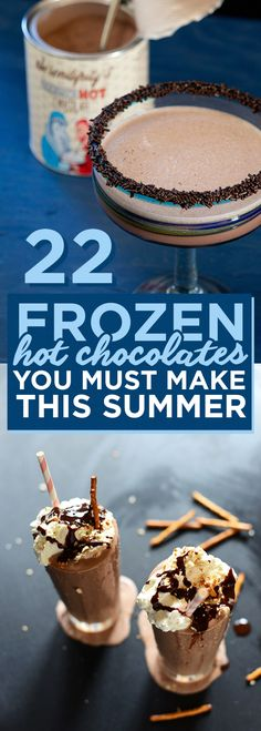 22 Frozen Hot Chocolate You Must Make This Summer