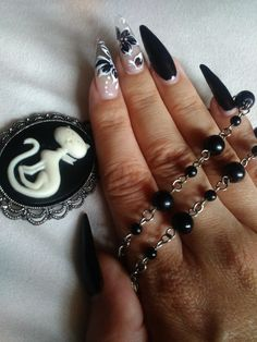 my new goth nails
