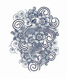 Amazing Peacock Sketch