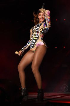 Beyonce made headlines with her custom costumes by Versace, Diesel and Alexander Wang in 2014: