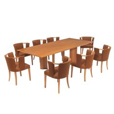 Eliel Saarinen Dining Table and 10 Chairs for Johnson | From a unique collection of antique and modern dining room sets at http://www.1stdibs.com/furniture/tables/dining-room-sets/