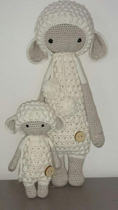 Made by Petra Z (Lalylala) ♡ Crochet Flower Patterns, Crochet Doll Pattern, Crochet Patterns Amigurumi, Amigurumi Doll, Crochet Dolls, Doll Patterns, Knit Crochet, Crochet Crafts, Crochet Projects