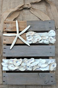 Southern State of Mind: {Patriotic Summer Challenge} Neutral Nautical Pallet Flag