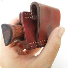 Christmas DIY : Horizontal carry Leather Sheath with belt loop made for Opinel knives folding knife pouch pocket knife leather case custom leather sheath