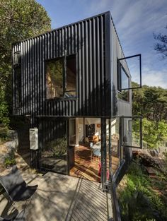 Container House Exterior Shipping Containers – Shipping Container US Architecture Design, Container Architecture, Contemporary Architecture, Contemporary Houses, Pavilion Architecture, Sustainable Architecture, Residential Architecture, Blackpool, One Bedroom House