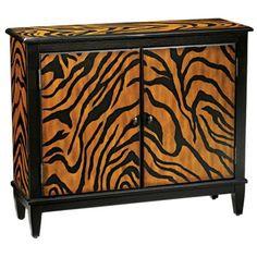 Tiger Stripe Console Cabinet